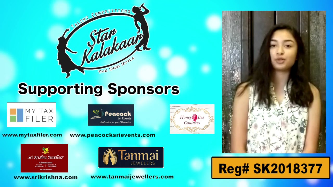 Participant Reg# SK2018-377 Introduction - US Star Kalakaar 2018 || DesiplazaTV