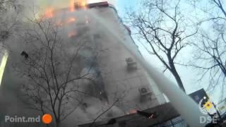 2016.01.23 Incendiu str Ismail 100 din Chisinau