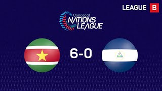 Suriname wins 6-0 Nicaragua in #CNL