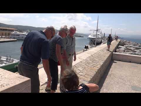 St Tropez Harbour Walk Around Super Yachts