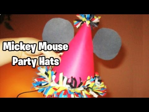 How To Make Birthday Hats Mickey Mouse Theme EASY TUTORIAL