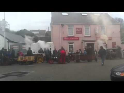 Llanelli model engineers road run at the pub. Big whistle!