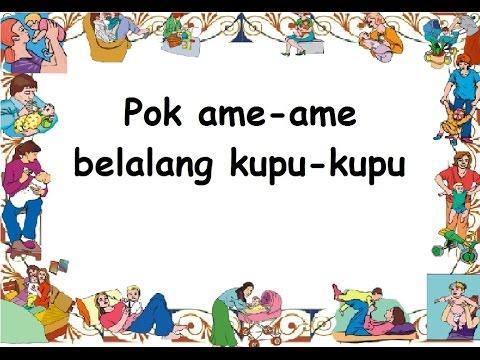 POK AME AME (LIRIK) - Lagu Anak - Cipt. .......... - Musik Pompi S.