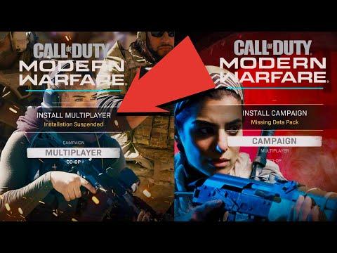 "Modern Warfare Multiplayer ""Install Suspended"" ""Missing Data Packs"" Fix"