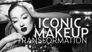 Old Hollywood Black and White Makeup Tutorial of Merle Oberon | Troy Jensen Iconic Makeover Thumbnail