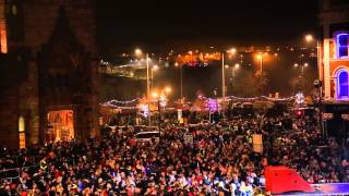 Christmas Lights in Derry Londonderry 2014 HD