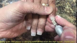 cách làm nails căn bản 45:  bộ mới cho móng tay siêu ngắn