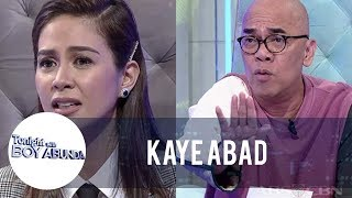 Tito Boy stops the timer for Kaye Abad during Fast Talk | TWBA