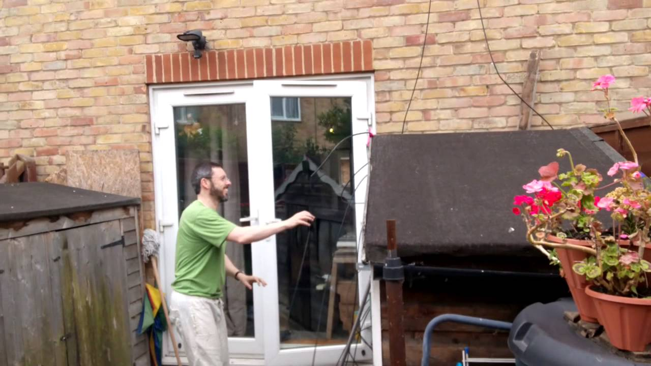 removing the old satellite dish cables youtube