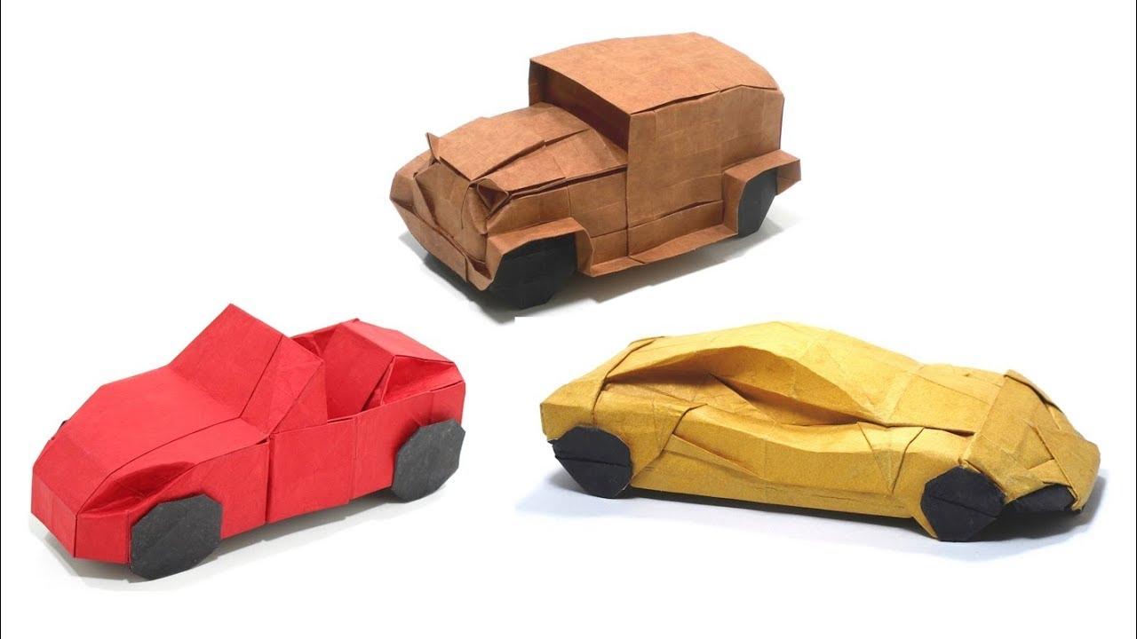 Origami Cars Compilation Time Lapse 折り紙 スポーツカー Sport Car Lamborghini Vintage Car Youtube クラシックカー スポーツカー 折り紙
