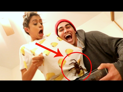 SURPRISING GIRLFRIEND WITH TARANTULA!!