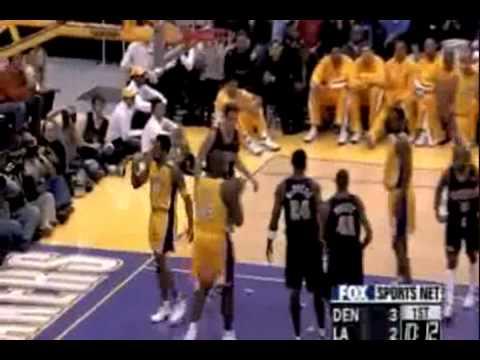 Kobe Bryant Dunks on Raef Lafrentz vs. Nuggets (1999-2000 Regular Season)