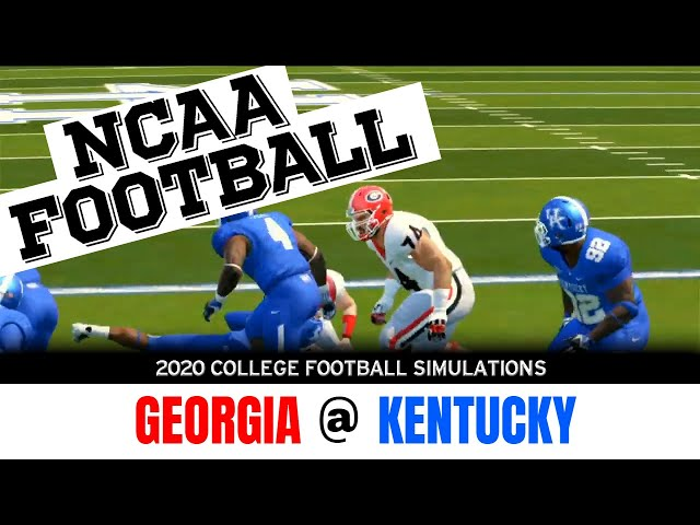 Georgia vs Kentucky 2020 NCAA Football Simulation