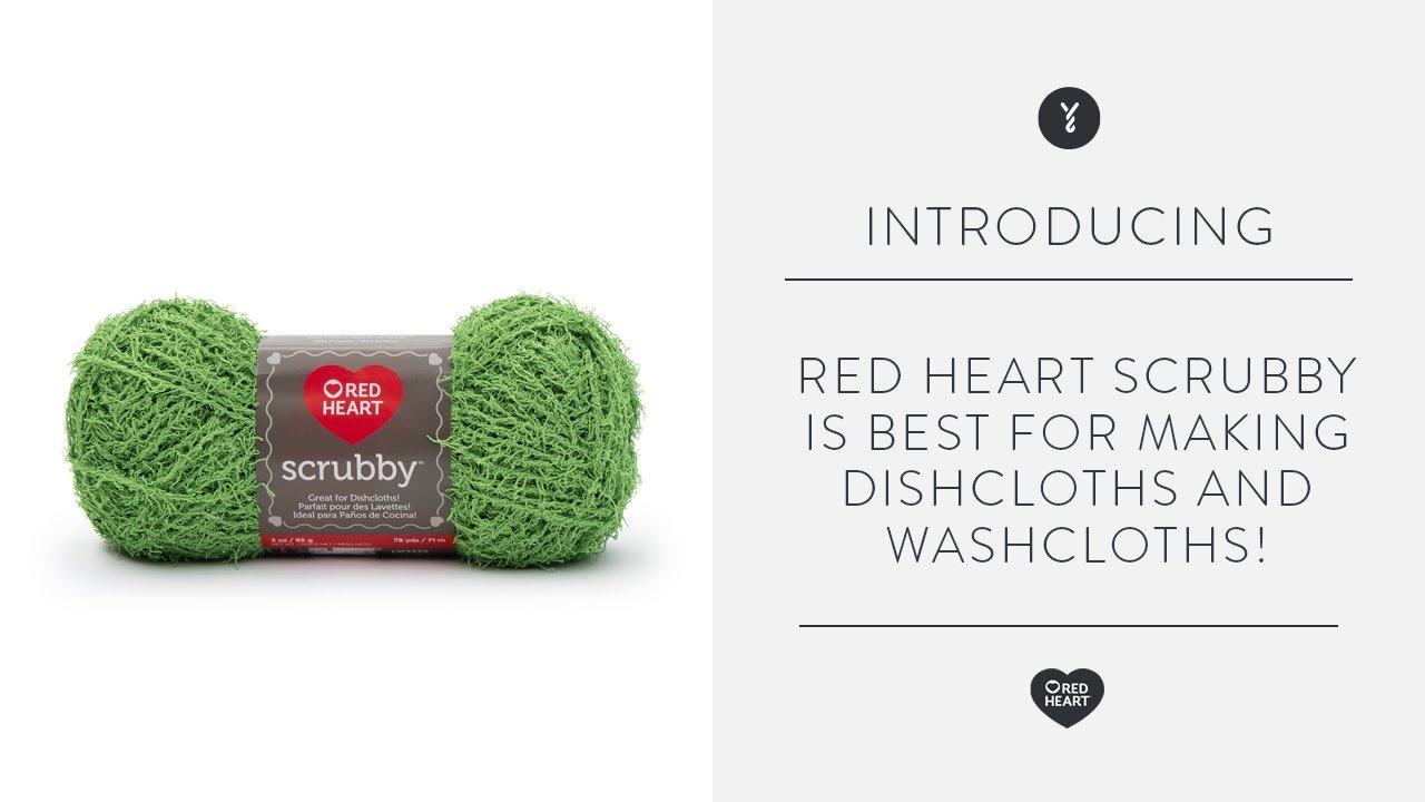 Red Heart Scrubby is Best for Making Dishcloths and Scrubbies! - YouTube