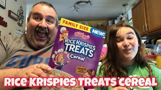 Kellogg's Rice Krispies Treats Cereal Food Review