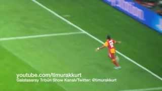Galatasaray-Real Madrid Drogba' nın muhteşem topuk golü, efsane yaptı yapacağını