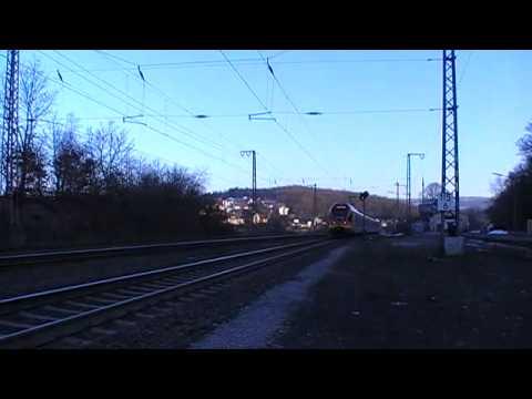 HLB FLIRT Durchfahrt in Rudersdorf auf dem Weg nach
