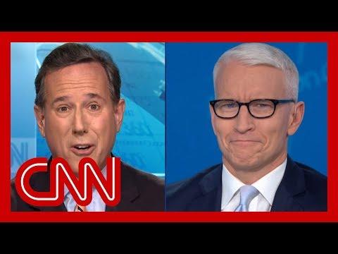 Santorum's portrayal of Ukraine transcript stuns Cooper