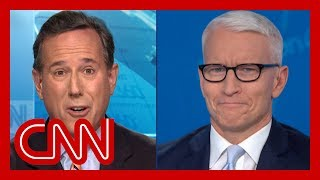 Santorum's portrayal of Ukraine transcript stuns Cooper