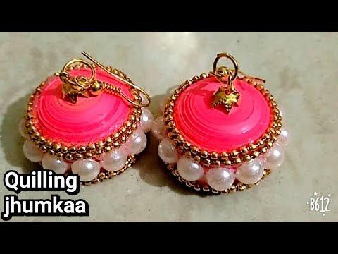 Quilling jhumka/ beautiful handmade quilling jhumka/ diy
