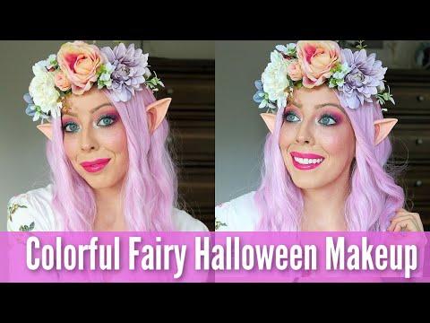 Colorful Fairy Makeup Halloween Tutorial