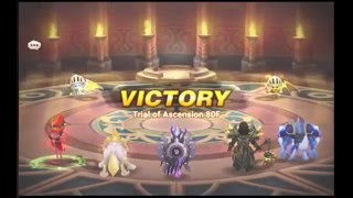 summoners war toa normal level 80 double occult girls on auto