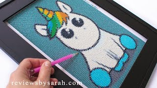 Diamond Painting for Beginners - How to Paint a Unicorn with Diamonds - 5D Crystals, Beads, Dotz