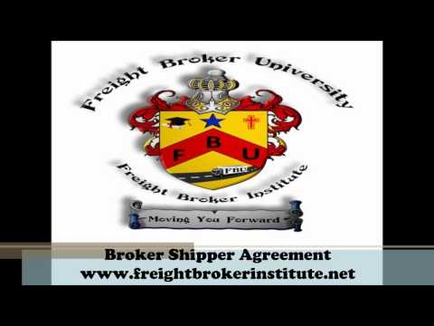 Knowing about the Broker Shipper Agreement from our Freight Broker Training Manual