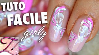 Tuto nail art facile et girly, spirales sucrées de printemps