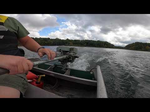 1948 Johnson PO-15 22.5hp Outboard Motor Lake Test