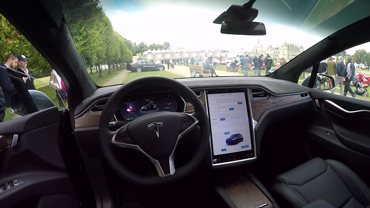 launch of the new tesla model x interieur exterieur