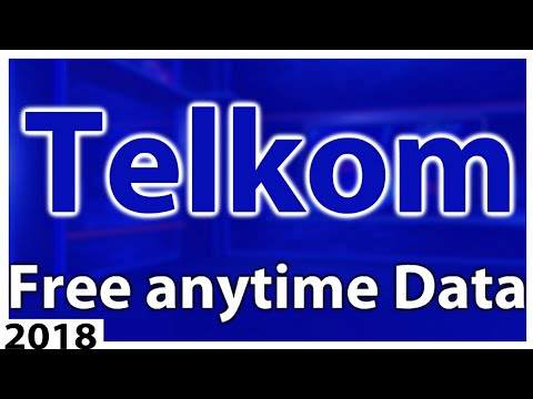 How to get Telkom anytime data for free 2018