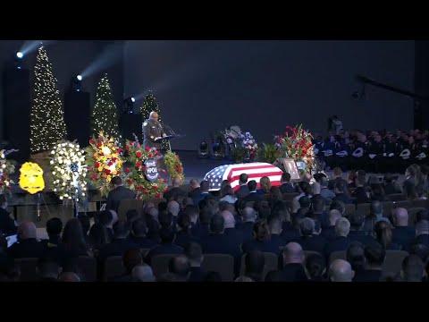 Slain Houston officer honored in funeral service