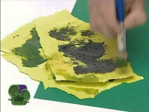 Truco para pintar las hojas de los rboles art attack - Arboles en la pared ...