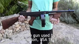 Denix M1 submachine gun, des. by Thompson, USA 1928