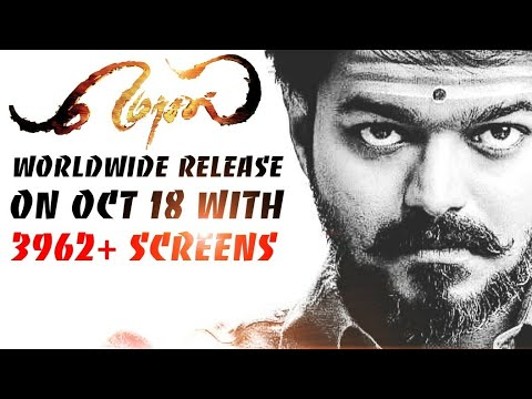 #Mersal Release With More Than 3292+ Screens 😱 - Reservations From Tomorrow|Mersal Record In Japan!