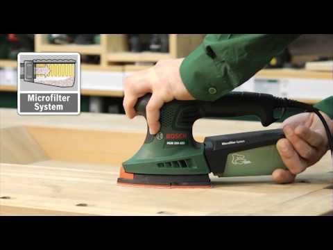Видео обзор: Шлифмашина площадочная BOSCH PSM 200 AES