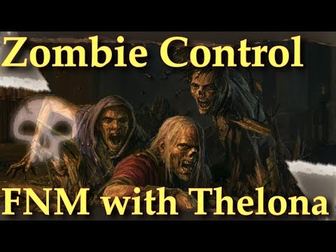 Friday Night Magic Duels | Mono Black Zombie Control Gameplay | MtG Zombie Midrange