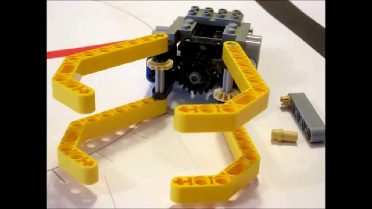 How to build a gripper for Lego Mindstorms EV3, NXT and RCX