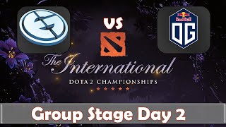 EG vs OG | The International 2019 | Dota 2 TI9 LIVE | Group Stage Day 2