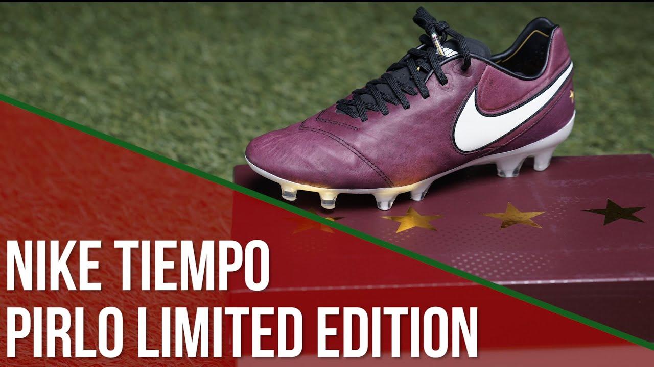 6e4eb5f588ab Chuteira Nike Tiempo Pirlo Limited Edition - YouTube