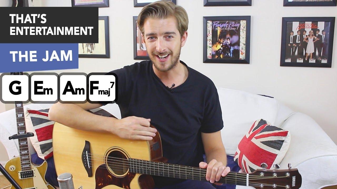 That's Entertainment Guitar Tutorial - The Jam/ Paul Weller - Easy Beginner Song