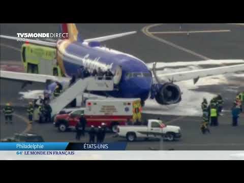Etats-Unis : spectaculaire accident d'un Boeing. Une passagère tuée.