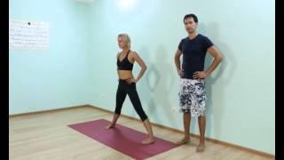 Аштанга йога для начинающих.  Урок № 10. Прасарита Падотанасана
