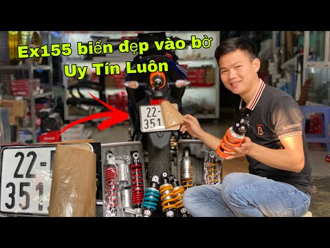 Lê Lĩnh Vlog _ Bốc Biển Đẹp Cho Exciter 155 VVA_Hướng Dẫn Lắp Phuộc SCK Cho Ex155VVA_Winnerx_Wave