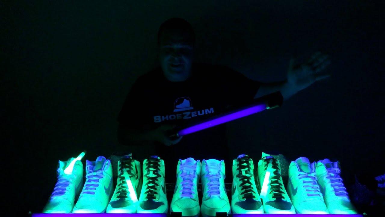 b8f47c5cff9f ShoeZeum Glow In The Dark Nikes - YouTube