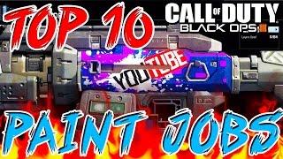 """Top 10 """"BEST PAINT JOBS"""" in BLACK OPS 3 - Ep.1 (Top 10 - Top Ten) Call of Duty BO3"""