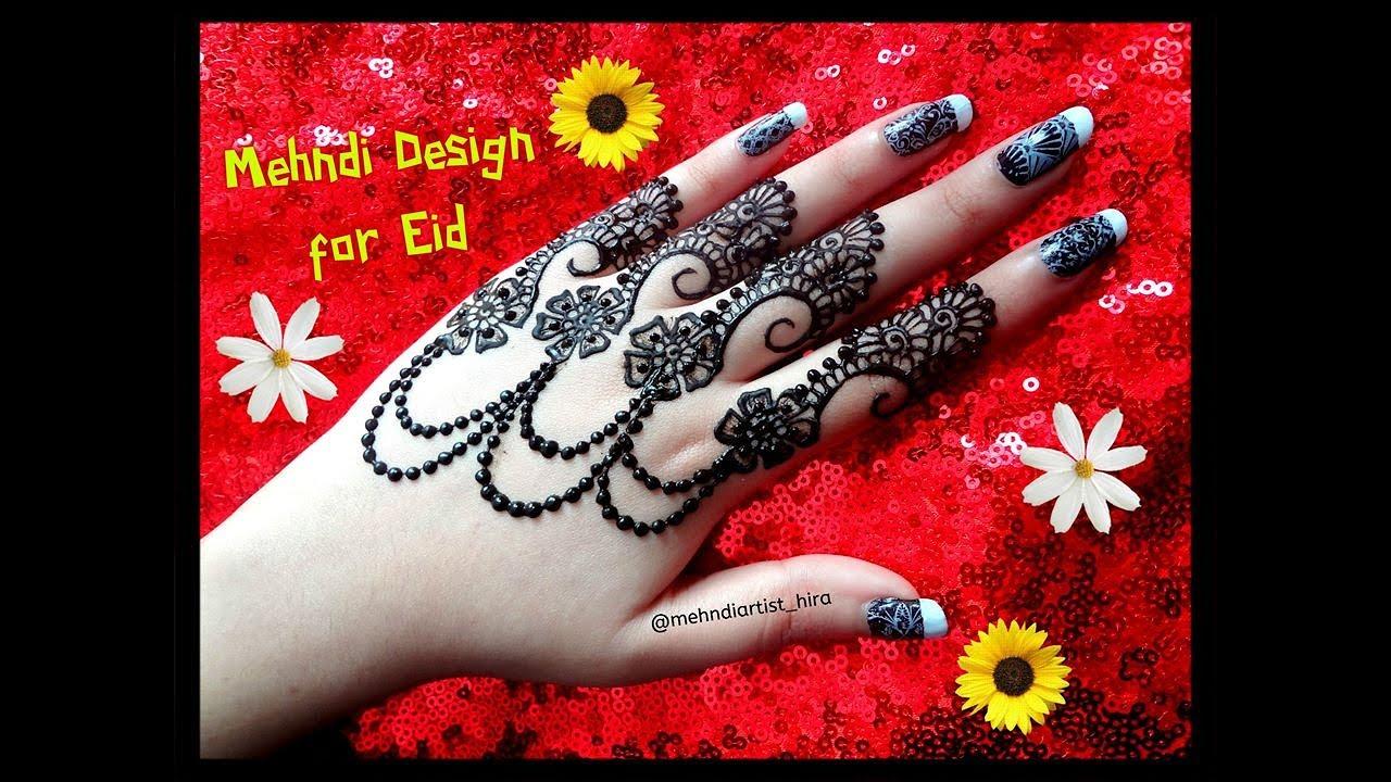 Diwali Henna Designs: Beautiful New Stylish Jewellery Style Henna Mehndi Designs