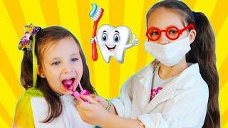 Dentist Song Different Version | 동요와 아이 노래 | 어린이 교육 | Dora and Alisa