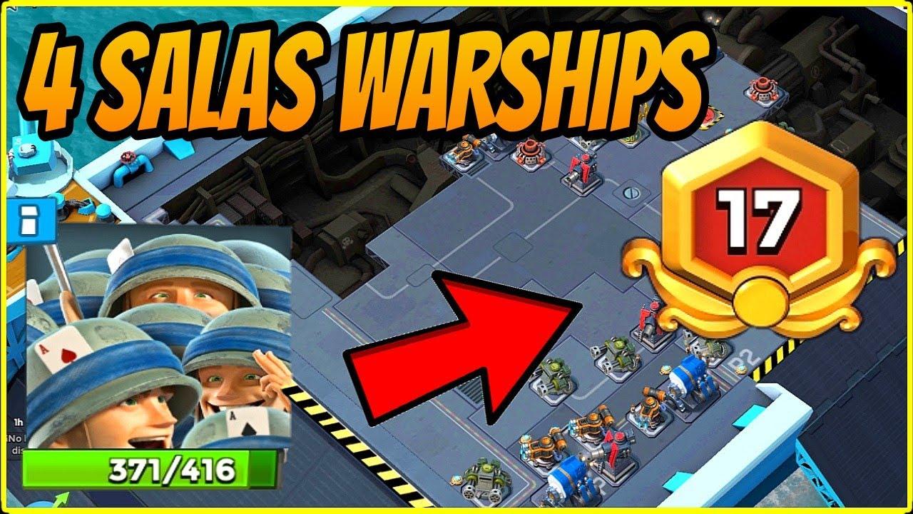 4 SALAS WARSHIPS [BOOM BEACH 2020]